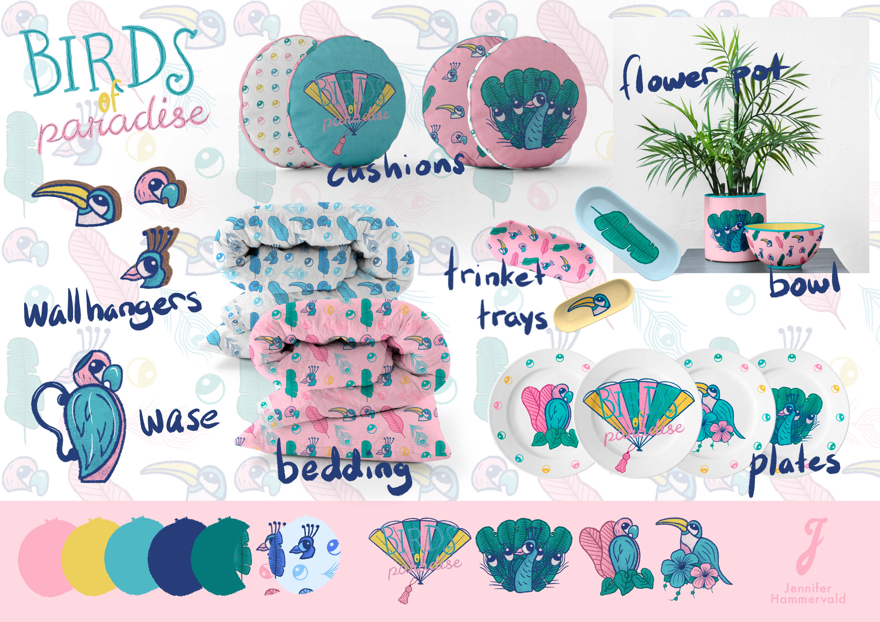 Jennis-Prints-Product-Design-Birds-of-Paradise-Products