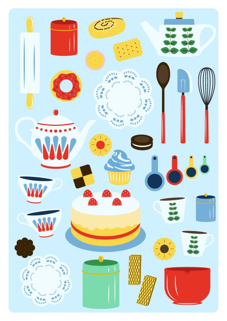 Jenni's Prints - Scandi Baking - Illustration