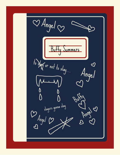 Jenni's Prints - Buffy - Notebook - Illustration