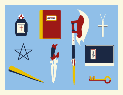 Jenni's Prints - Buffy - Weapons - Illustration
