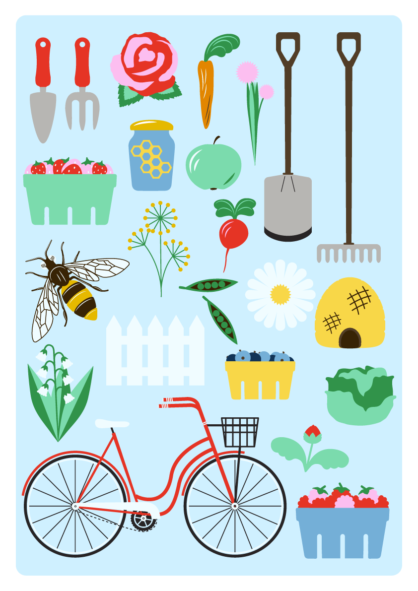 Jenni's Prints - Scandi Farming - Illustration
