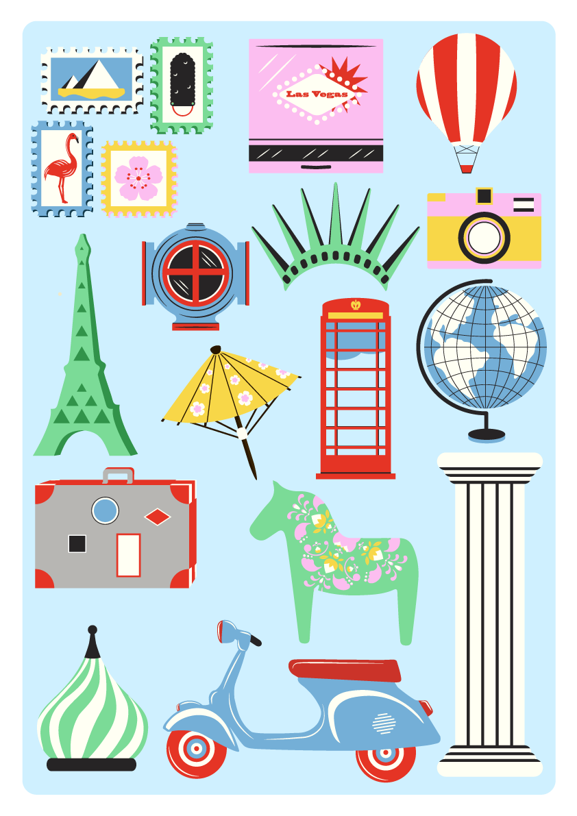 Jenni's Prints - Scandi Travel - Illustration