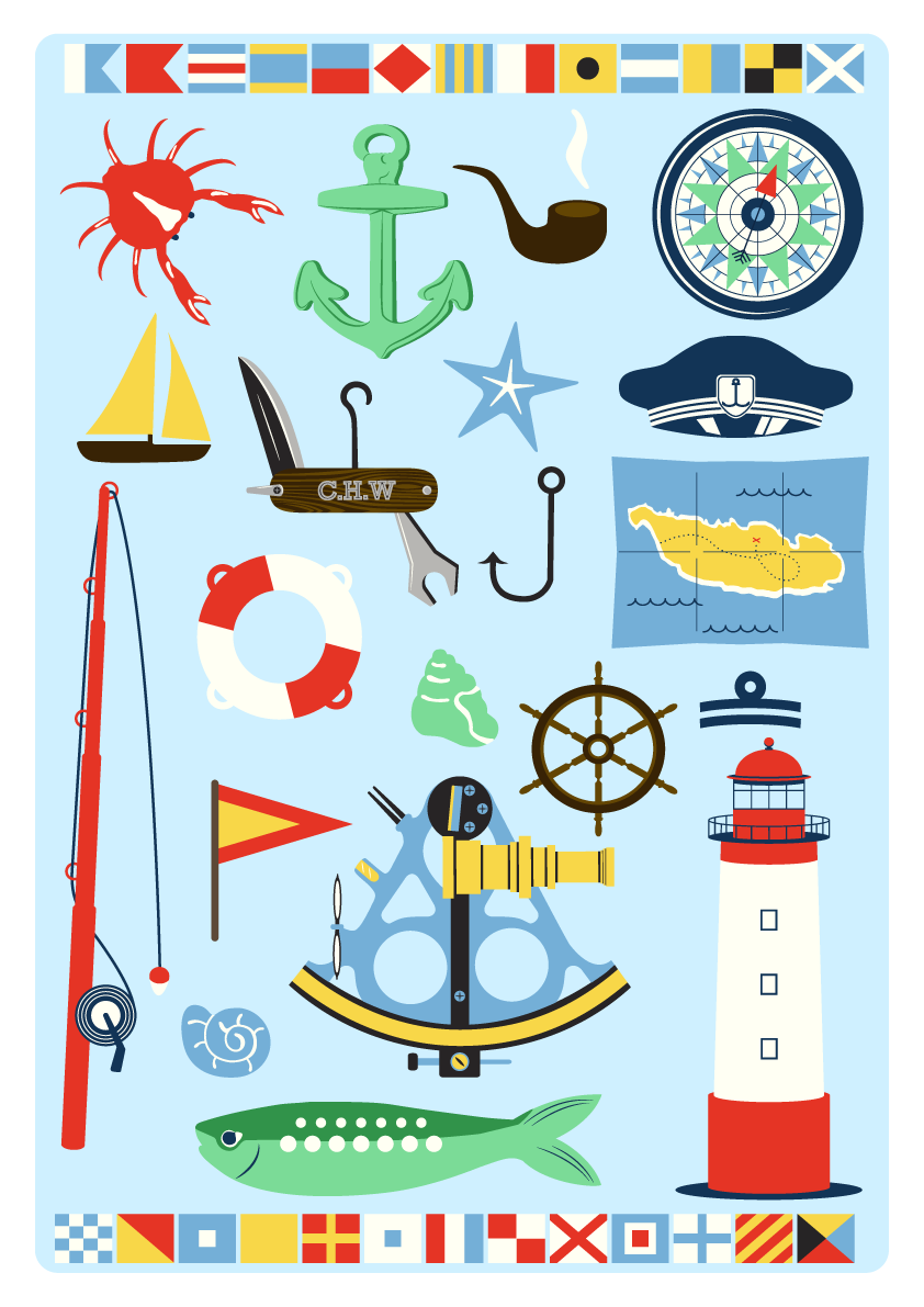 Jenni's Prints - Scandi Nautical - Illustration