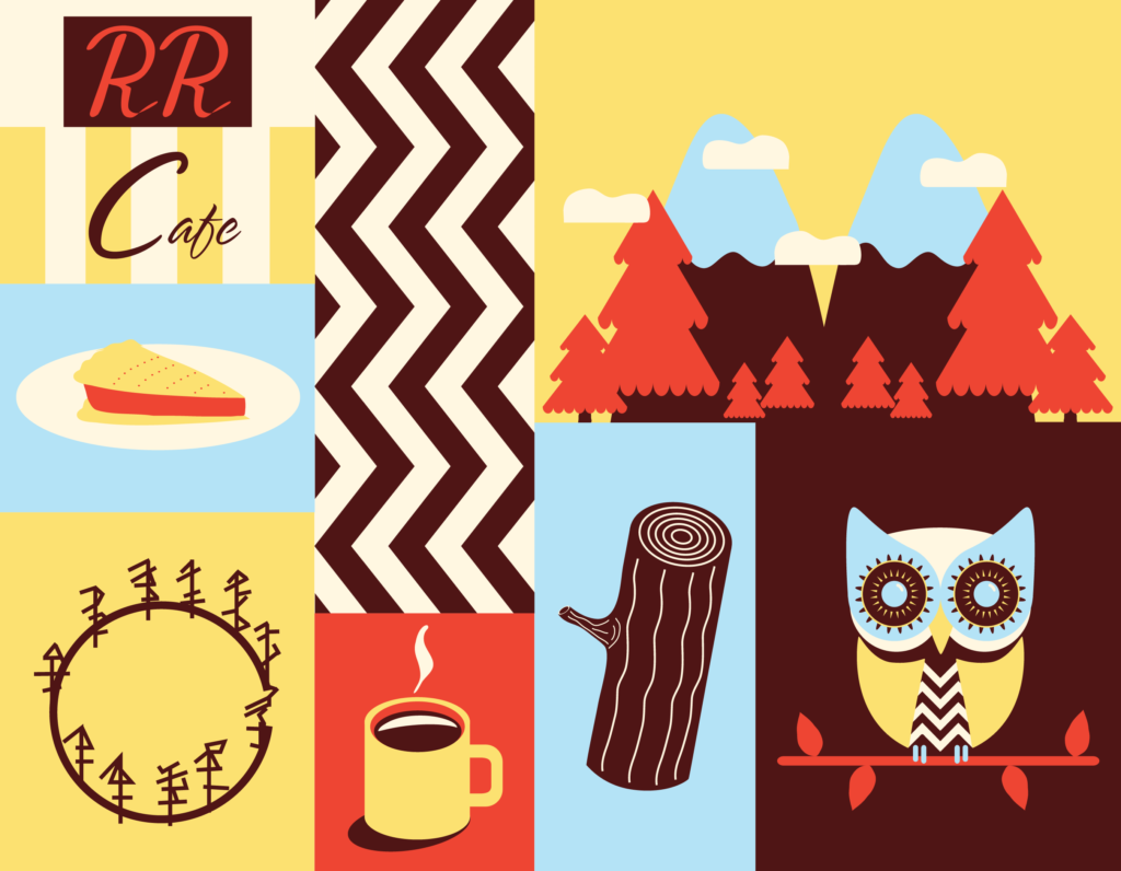 Jenni's Prints - Twin Peaks Baby - Illustration