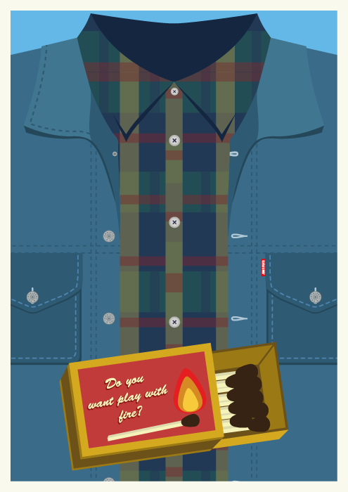 Jenni's Prints - Twin Peaks Characters - Bob - Illustration