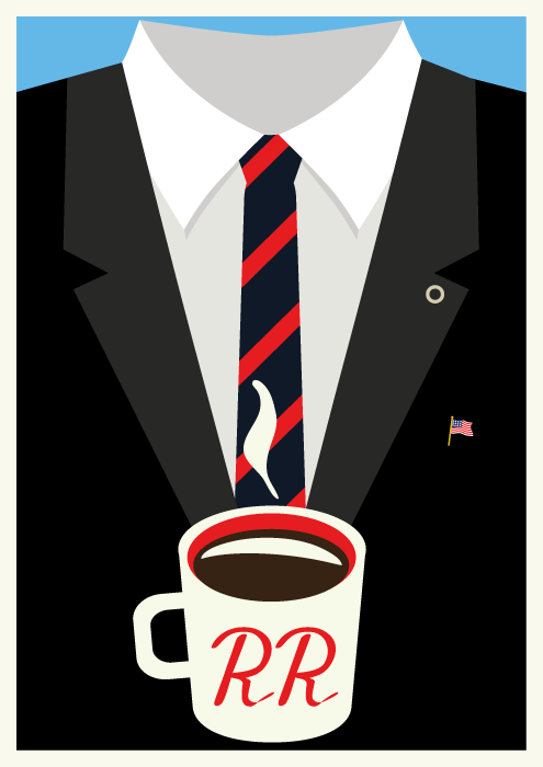 Jenni's Prints - Twin Peaks Characters - Agent Cooper- Illustration