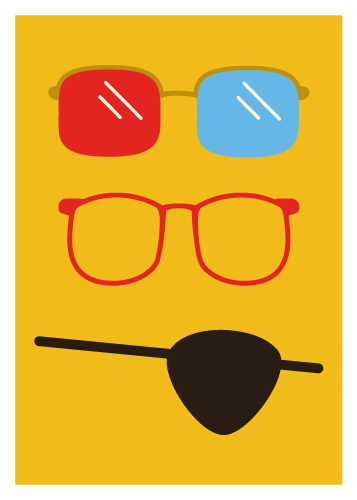 Jenni's Prints - Glasses - Illustration
