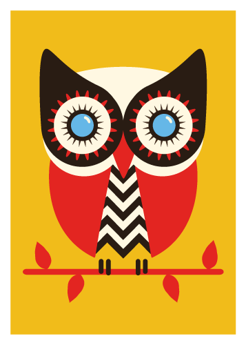 Jenni's Prints - The owls are not what they seems - Illustration