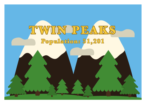 Jenni's Prints - Welcome to Twin Peaks- Illustration